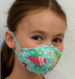 Kindermaske, Stoffmaske, Mund-Maske Schmetterlinge mint