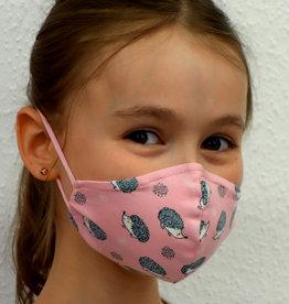 Kindermaske, Stoffmaske, Mund-Maske Igel rosa
