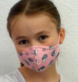 Kindermaske, Kinder Mundschutz, Mund-Nasen-Maske  Igel rosa