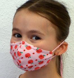 Kindermaske, Stoffmaske, Mund-Maske Apfel rosa