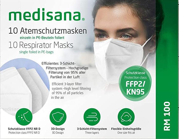 FFP2 Maske, Medisana RM 100  Atemschutzmaske