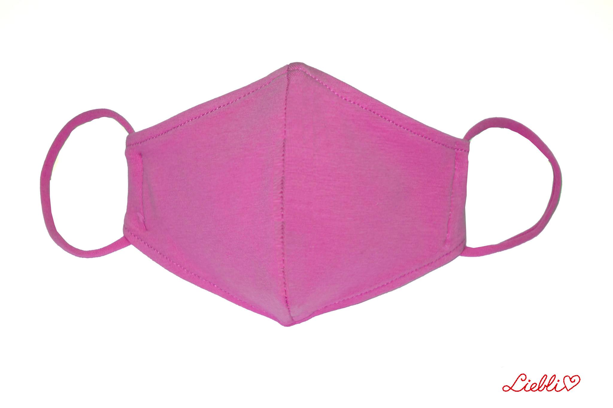 Waschbare, wiederverwendbare Stoffmaske, Mund-Nasen Maske, fuchsia
