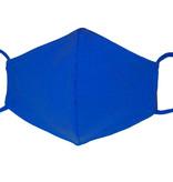 Waschbare, wiederverwendbare Baumwollmaske, Mund-Nasen Maske, royalblau