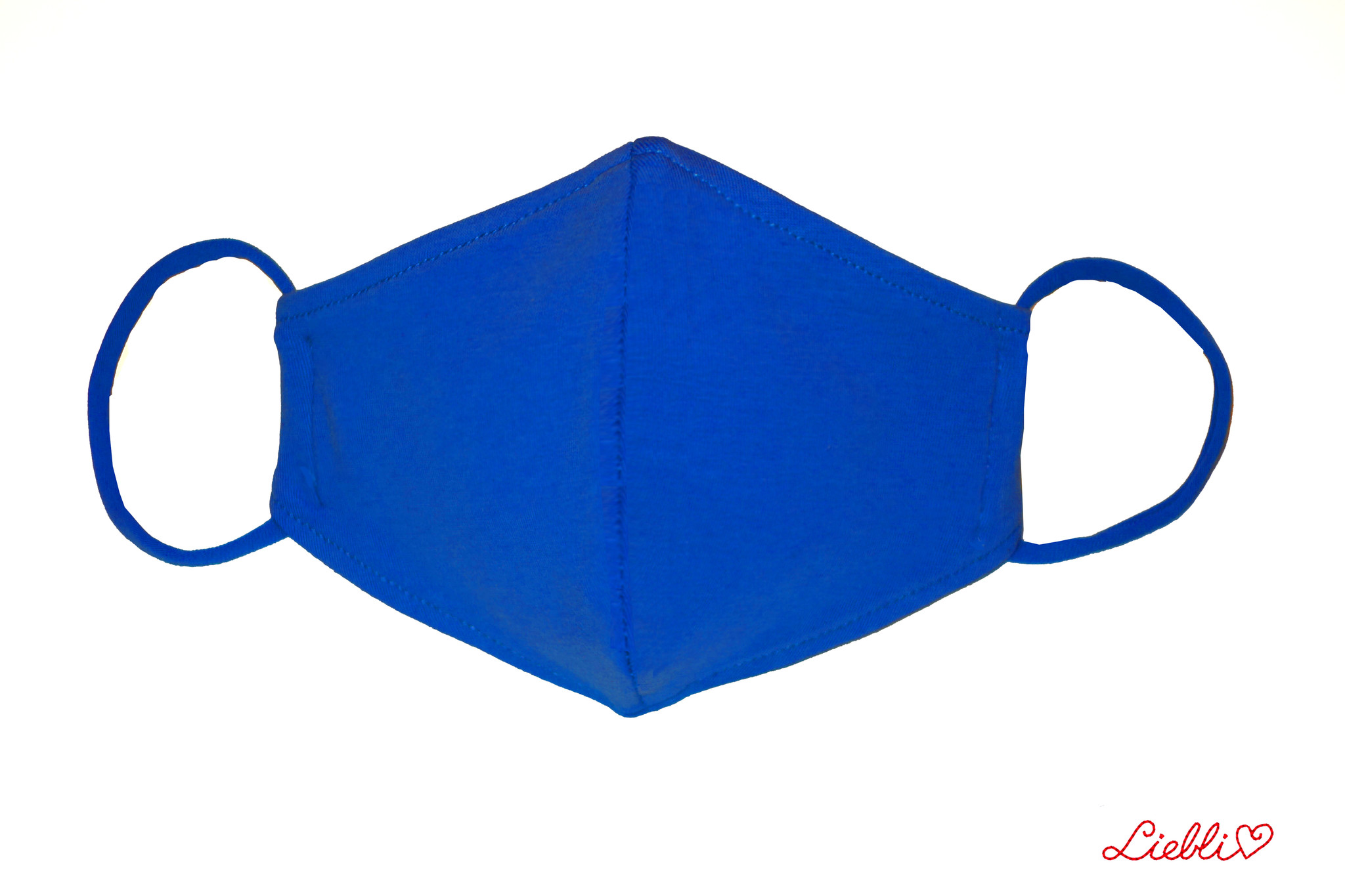 Waschbare, wiederverwendbare Stoffmaske, Mund-Nasen Maske, royalblau