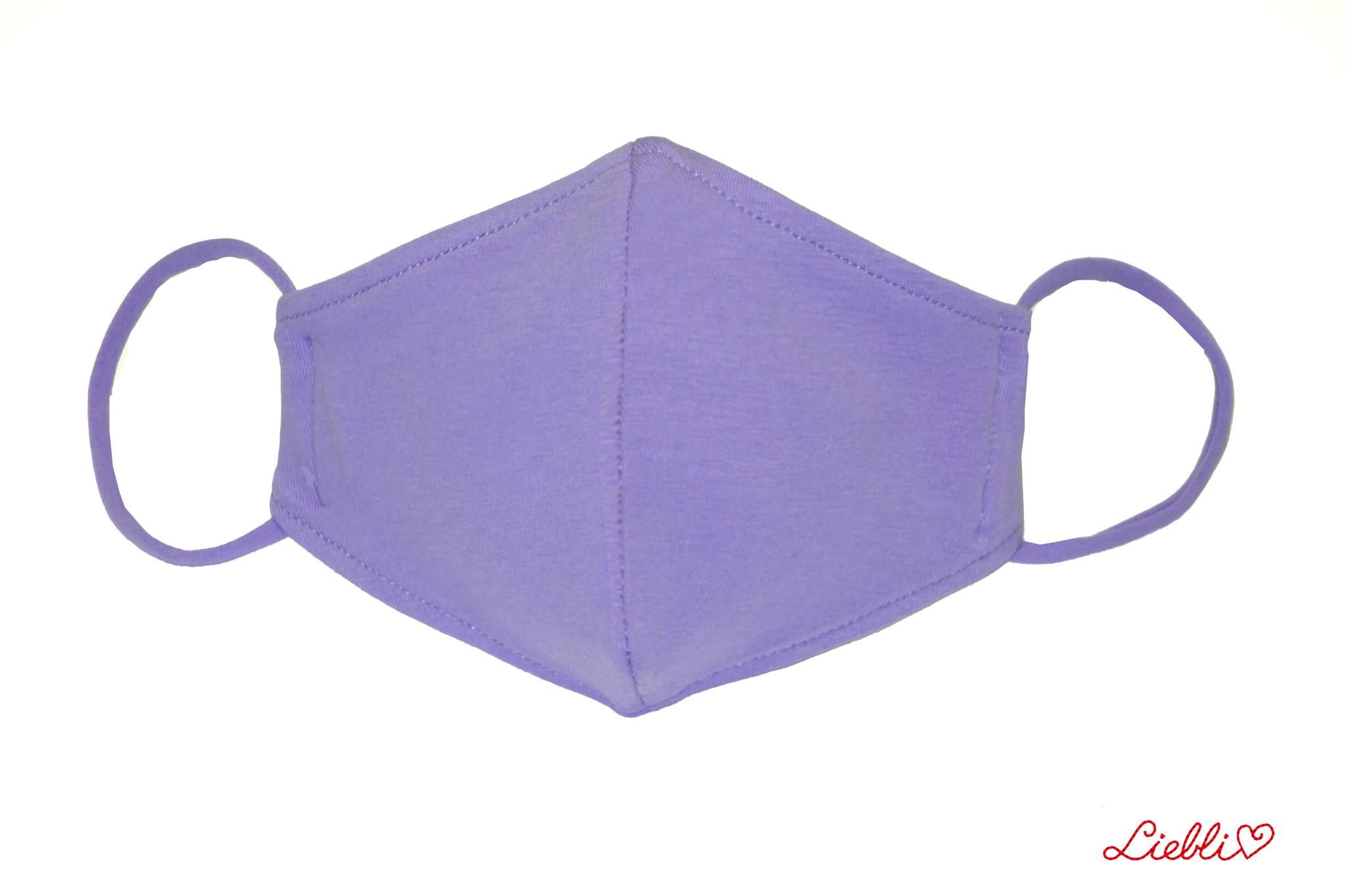 Waschbare, wiederverwendbare Baumwollmaske, Mund-Nasen Maske,hellviolett