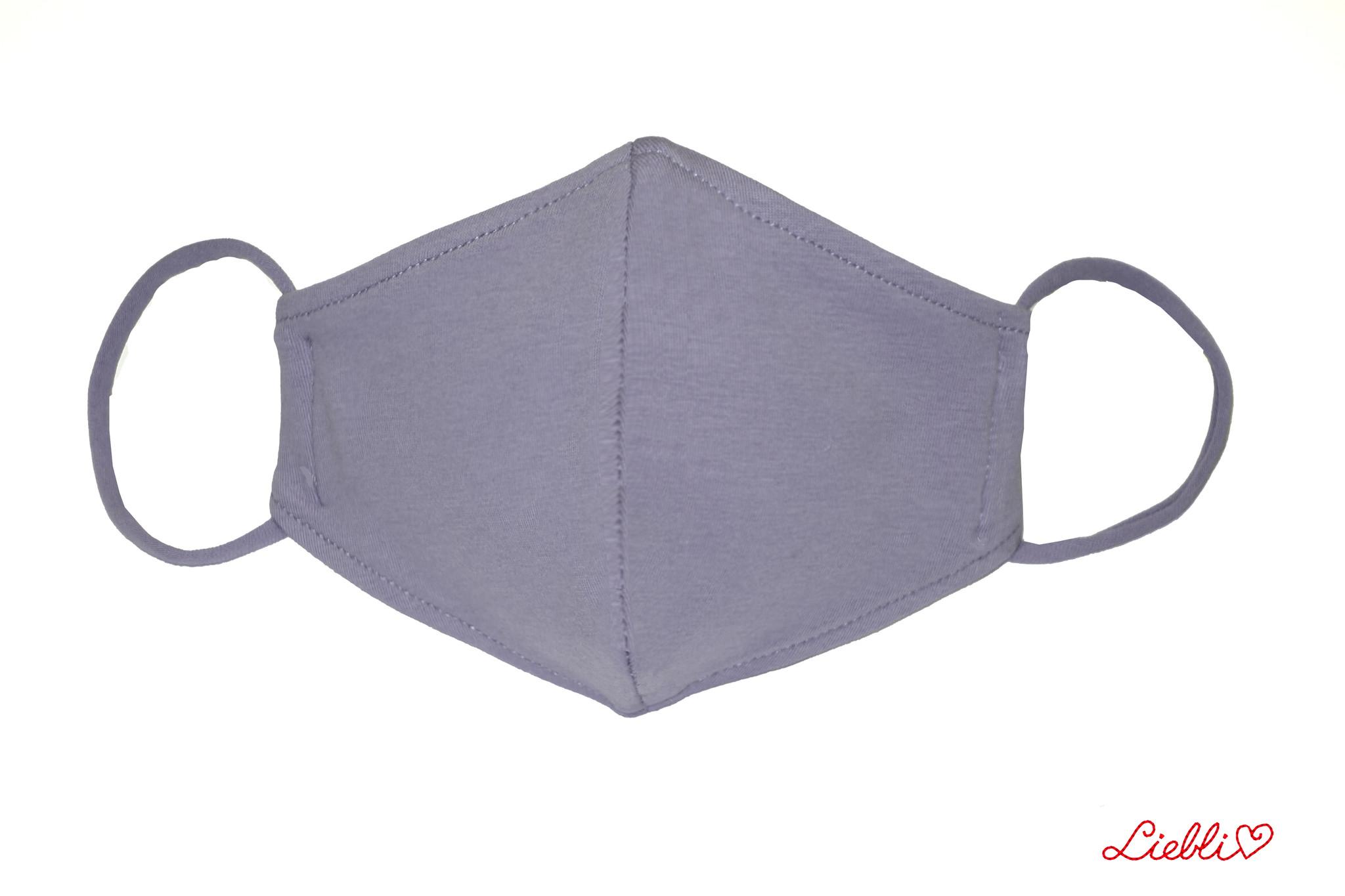 Waschbare, wiederverwendbare Stoffmaske, Mund-Nasen Maske, hellgrau