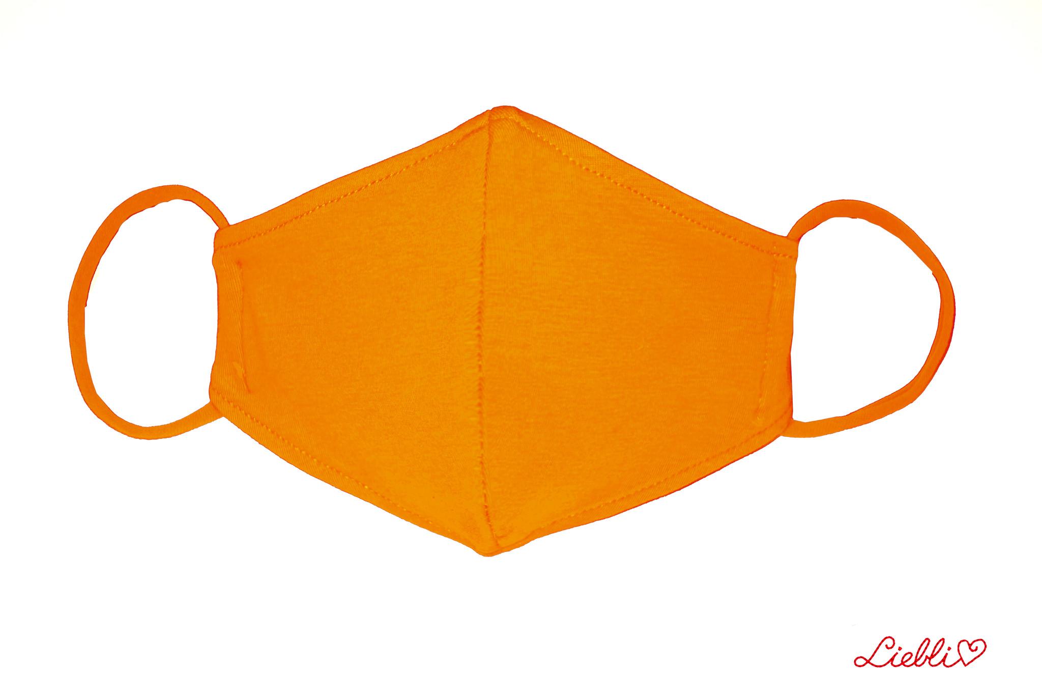 Waschbare, wiederverwendbare Baumwollmaske, Mund-Nasen Maske, orange
