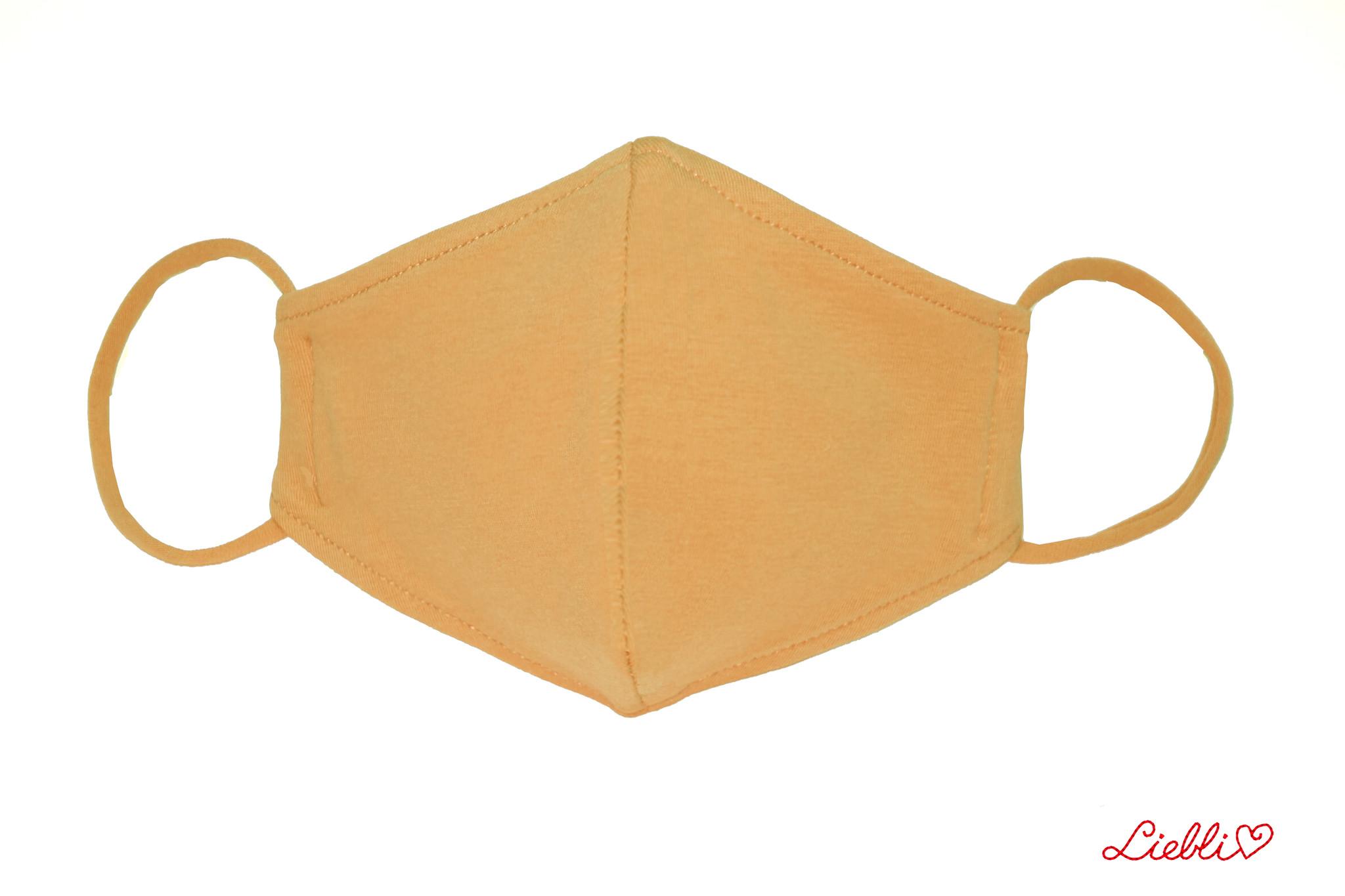 Waschbare, wiederverwendbare Stoffmaske, Mund-Nasen Maske, hellbraun