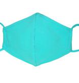Waschbare, wiederverwendbare Stoffmaske, Mund-Nasen Maske, türkisgrün