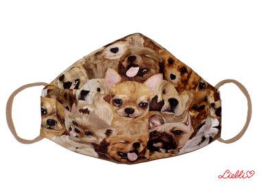 Lustige Masken aus Baumwolle