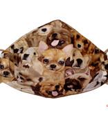 Lustige  Stoffmaske, Hundemaske, Maske Hunde