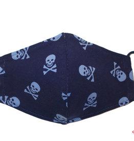 Coole Maske, Stoffmaske mit Totenköpfe, Totenkopfmaske