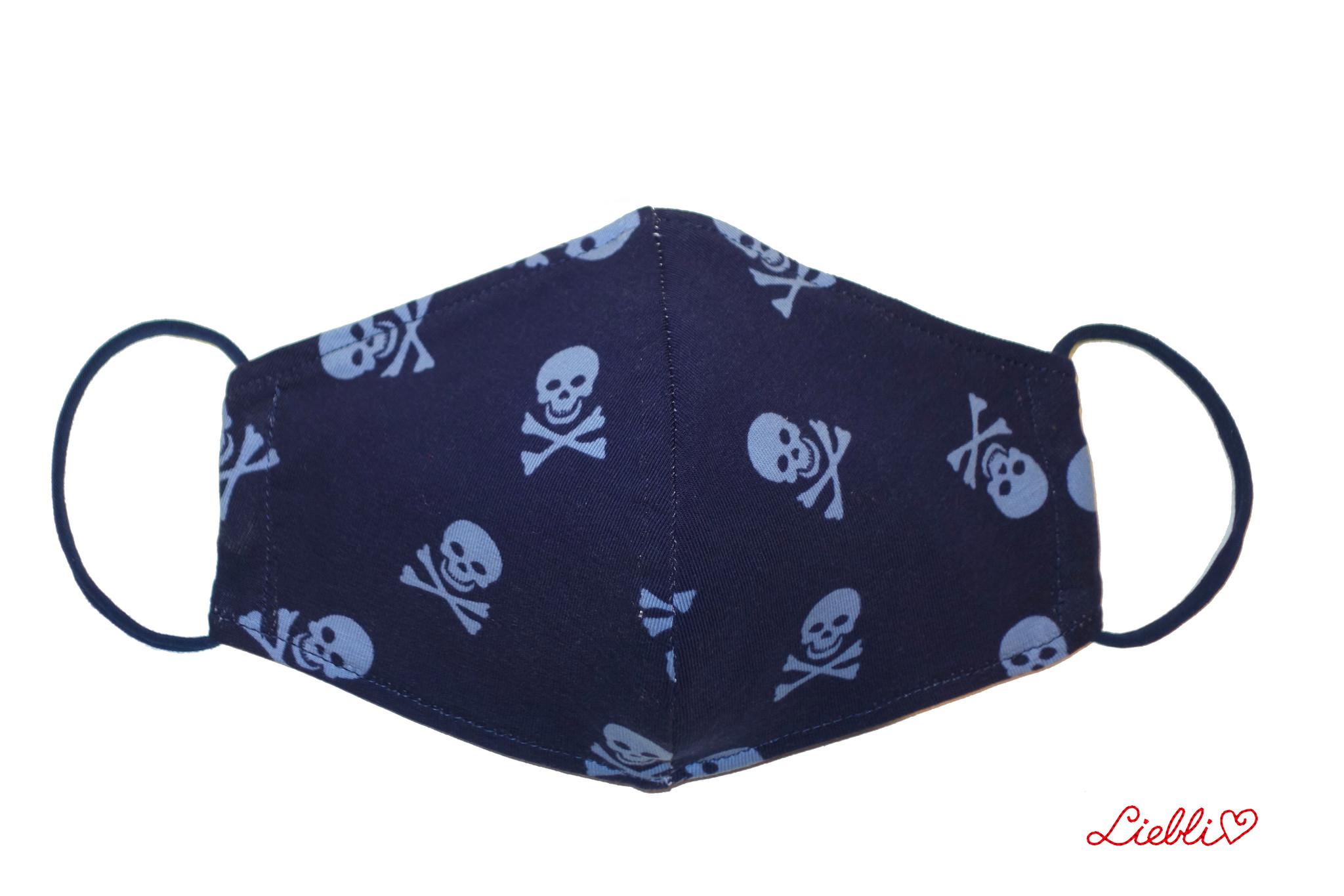 Coole Masken, Stoffmaske mit Totenköpfe, Totenkopfmaske