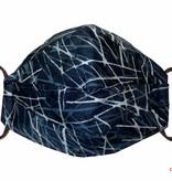 Herrenmaske, Stoffmaske für Herren, dunkelgrau, abstrakte Linien