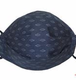 Herrenmaske, Stoffmaske für Herren, jeansblau mit feinem Muster