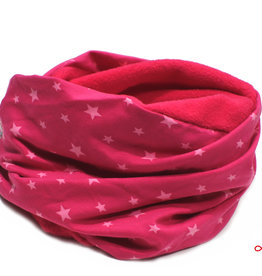 Loopschal warm, Sterne pink