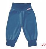 Kinderhose aus Baumwoll-Nicki, jeansblau