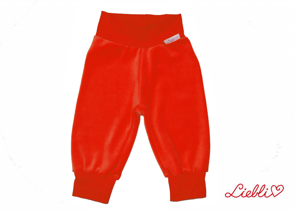 Kinderhose aus Baumwoll-Nicki, rot