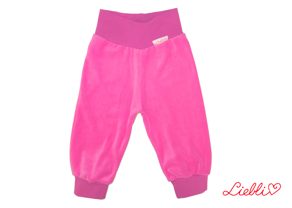 Kinderhose aus Baumwoll-Nicki, pink