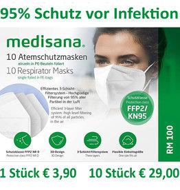 10 Stück FFP2 Maske Medisana ab € 2,90 / Stück