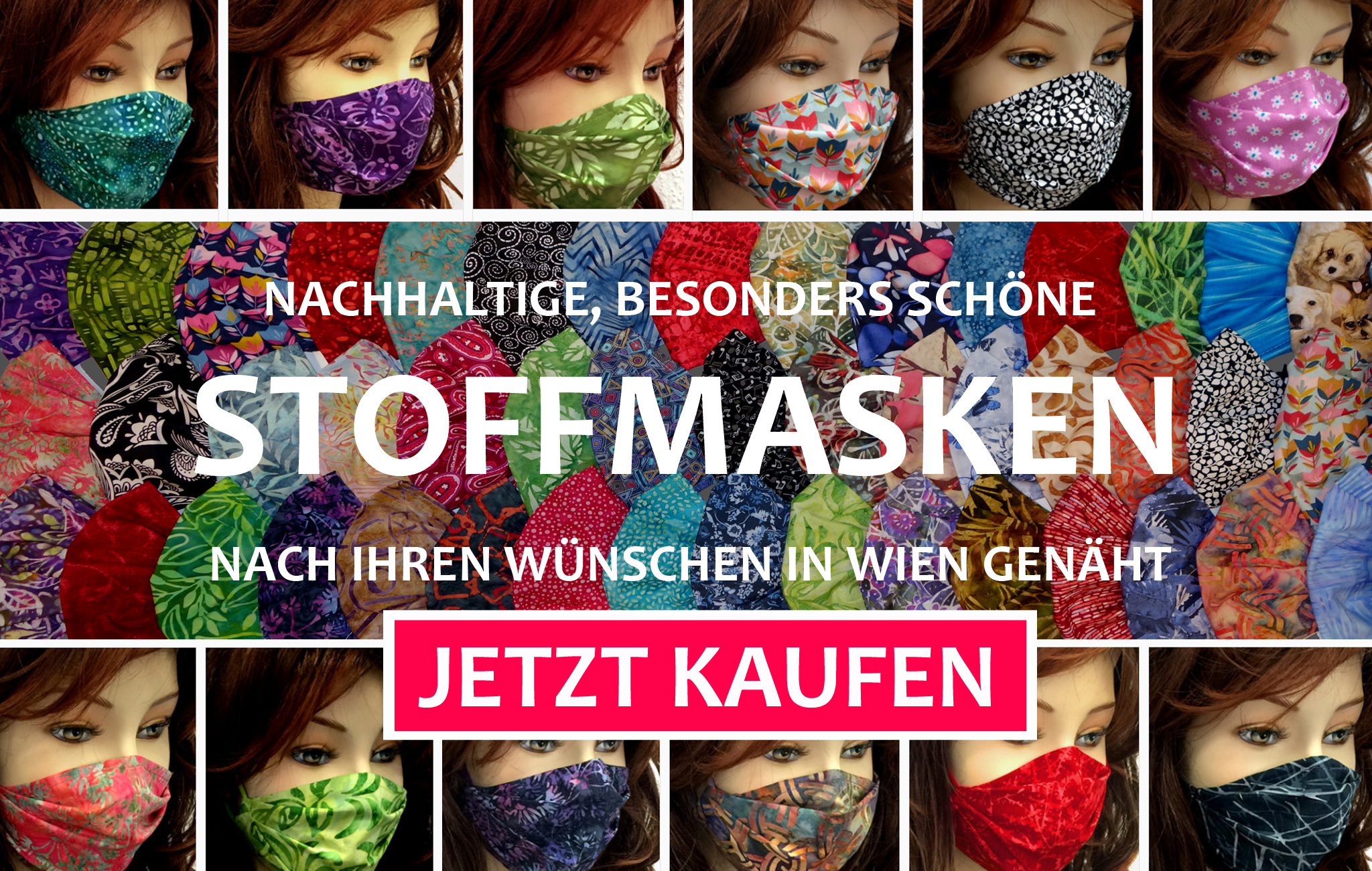 schöne Stoffmasken Mundschutz FFP2 Masken kaufen, Atemschutz Masken Modemasken Kindermasken Damenmasken Herrenmasken Wien Österreich regional produziert