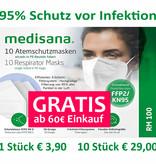 5 Stück Medisana FFP2 Masken  GRATIS ab 60€ Einkauf im Onlineshop