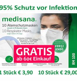 5 Stück FFP2 Masken GRATIS ab 60€ Einkauf im Onlineshop