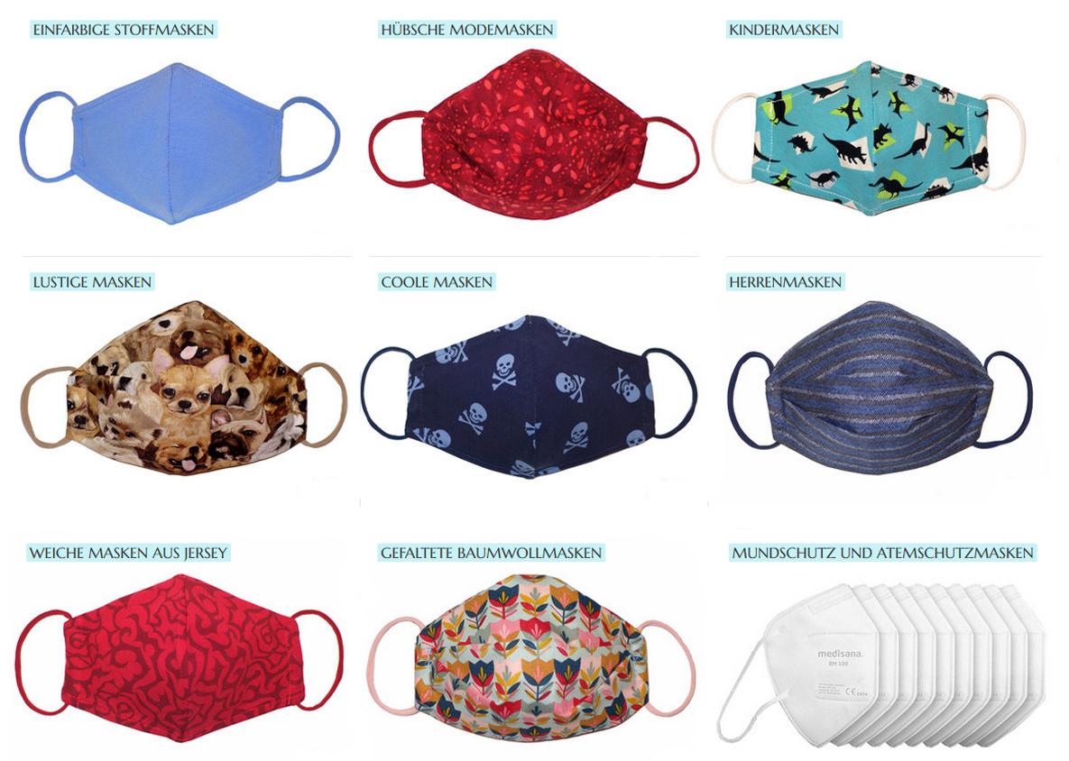 Stoffmasken Mundschutz FFP2 Atemschutz Masken Modemasken Kindermasken Damenmasken Herrenmasken in 1030 Wien Österreich regional produziert