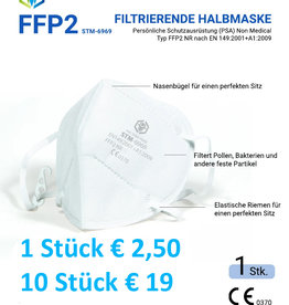 1 Stück CE FFP2 Maske,  STM 6010