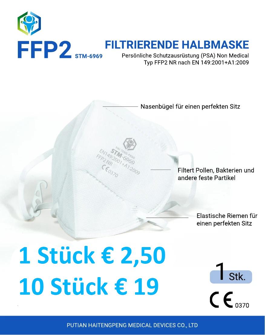 FFP2 Maske,  Mundschutz STM-6010