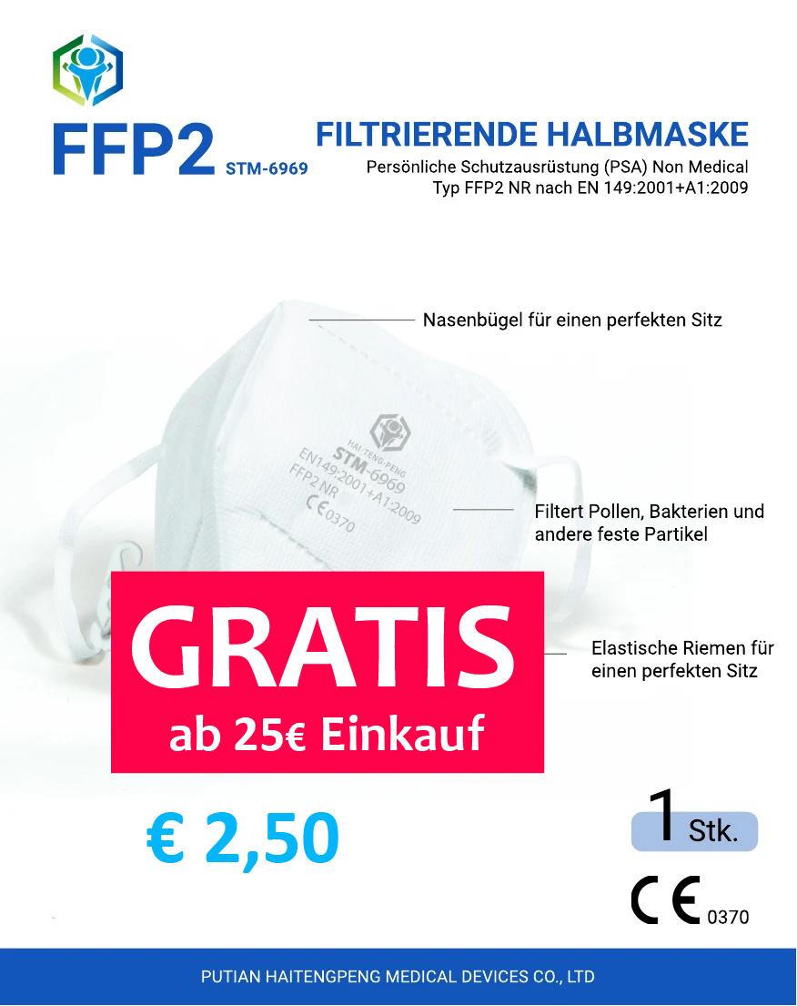 FFP2 Maske,  Mundschutz STM-6969 (entspricht auch STM-6010)
