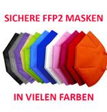 10 Stück bunte FFP2 Masken rosa für Erwachsene