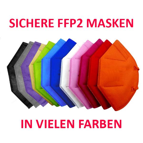 10 Stück schwarze FFP2 Maske für Erwachsene, FFP2 schwarz