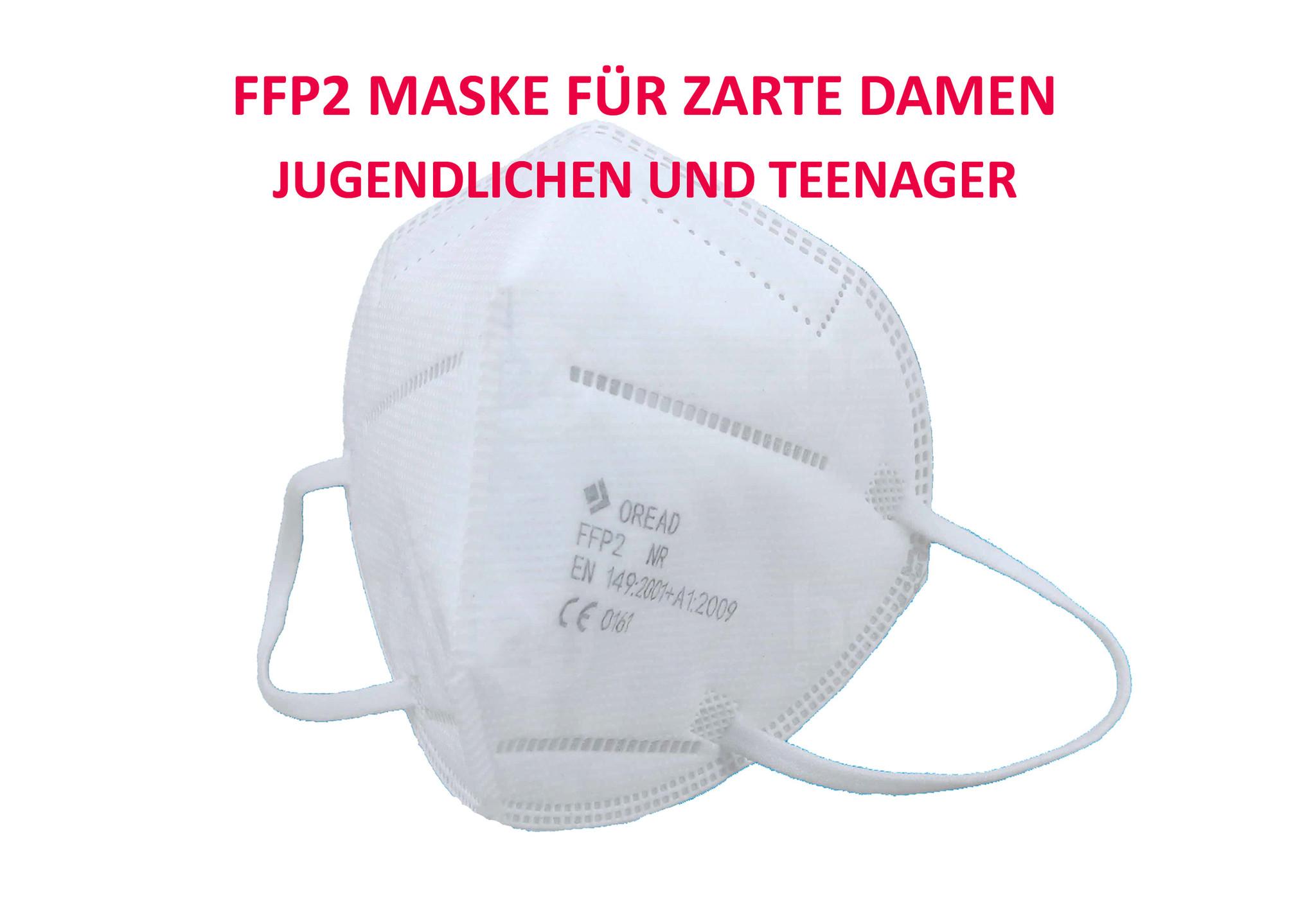 10 Stück FFP2 Maske, für Kinder, Jugendlichen, zarte Damen
