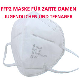 10 Stück FFP2 Maske für Kinder, Jugendlichen, zarte Damen