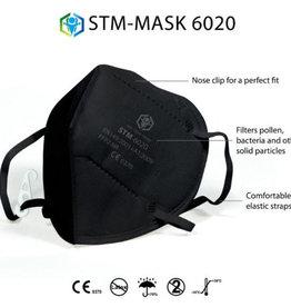 10 Stück CE FFP2 Maske, schwarz