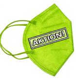 10 Stück bunte FFP2 Masken kiwigrün, CE zertifizierte bunte FFP2 Masken