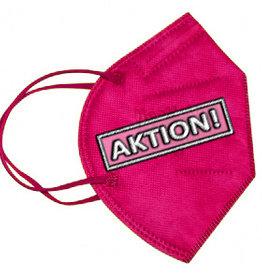 10 Stück bunte FFP2 Masken pink/fuchsia, CE zertifizierte bunte FFP2 Masken