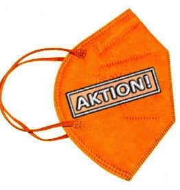 10 Stück bunte FFP2 Masken orange, CE zertifizierte bunte FFP2 Masken