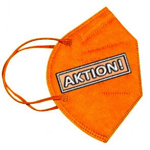 CE zertifizierte FFP2 Masken für Erwachsene, orange