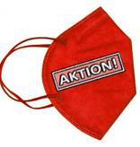 CE zertifizierte bunte FFP2 Maske für Erwachsene, rot