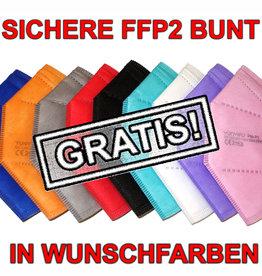 Ab 30€ Einkauf GRATIS bunte FFP2 Masken in Wunschfarben