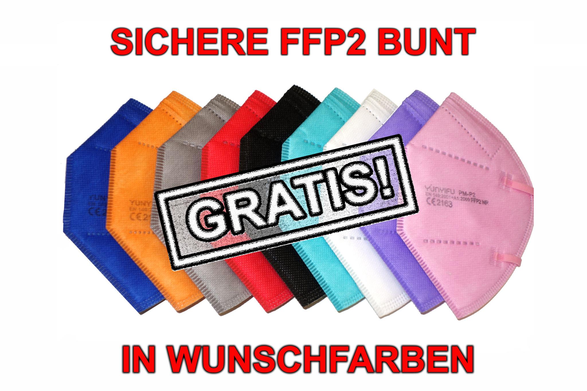 bunte FFP2 Masken in Farben, FFP2 Masken farbig, FFP2 Masken bunt, farbige FFP2 Masken, bunte FFP2 Masken günstig, bunte FFP2 Masken Gratis, Bunte FFP2 Masken gute Preis