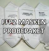 Verschiedene weiße Masken zum ausprobieren