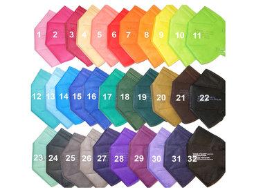 Bunte FFP2 Masken in vielen Farben