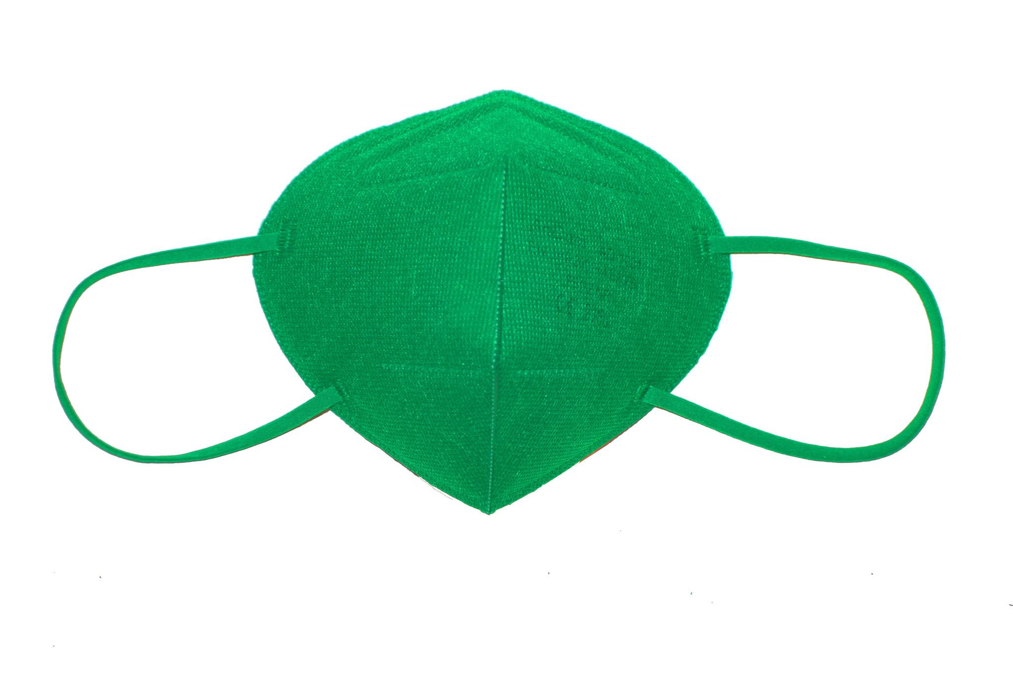 CE zertifizierte bunte FFP2 Maske dunkelgrün / grasgrün schon ab 0,75 € B2B