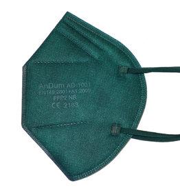 Bunte FFP2 Maske tannengrün ab 0,75 €