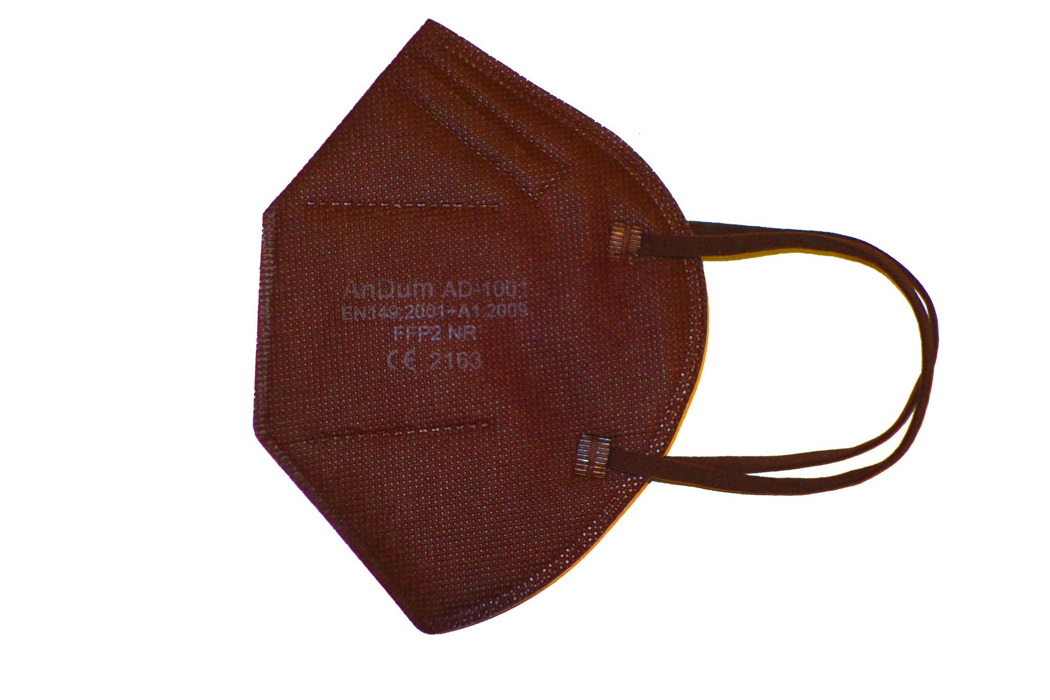 CE zertifizierte bunte FFP2 Maske dunkelbraun schon ab 0,75 € B2B