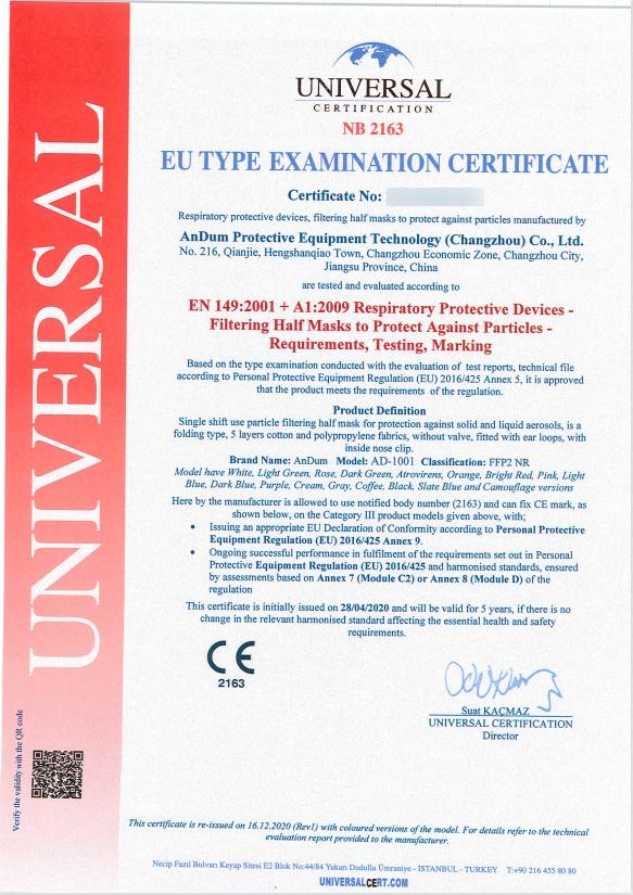 CE zertifizierte bunte FFP2 Maske kiwigrün / apfelgrün schon ab 0,75 € B2B