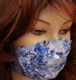Stoffmaske, Mundschutz, MNS,  Dünne Sommermaske, Schmetterlinge hellblau